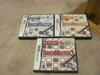 Touchmaster 1 2 3 Trilogy Touch Master Game Lot Nintendo DS ALL COMPLETE