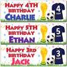 2 Personalised Birthday Banner Football Uniform Sports Boy Children kids Party