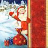 4 Motivservietten Servietten Napkins Weihnachten Nikolaus Weihnachtsmann (1357)