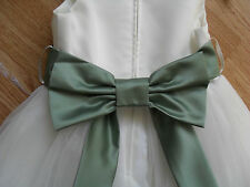 SASH & BOW for Flower girl/Bridesmaid//Princess dress,28 colours made in UK new