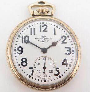 .Vintage 1948 Ball 999B Official RR Standard 16s 21 J GF Pocket Watch