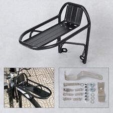 Black Aluminum Alloy Bike Bicycle Front Rack Luggage Shelf Panniers Bracket