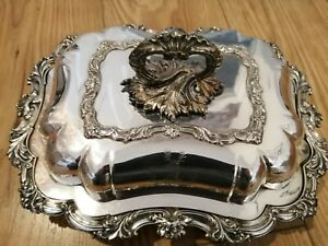 Antique Walker & Hall Silver Plate Entree Dish No 52136