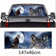 Wolf tribe Night forest Howling Car Decal Vinyl Sticker Fit Rear Window 147*46CM