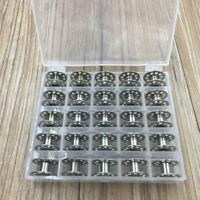 25*Metal Bobbin Spool Case Set Bobbins For Domestic Sewing Machine Thread Spool
