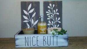 Nice Butt Bathroom Box, Storage Box, Catchall, Funny Bathroom Decor