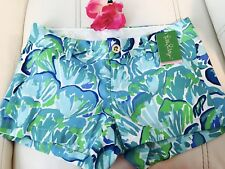 SZ 14 NWT Lilly Pulitzer Walsh Short Agate Green Lazy River $64 Style#19279