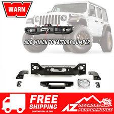 WARN OE Steel Bumper Winch Plate For 18-21 Jeep Wrangler JL Rubicon 101255 Black