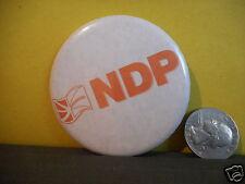 NDP CAMPAIGN BUTTON,NEWFOUNDLAND AND LABRADOR,CANADIAN,PROVINCIAL FLAG!!