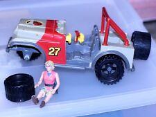 1993 Kenner Jurassic Park Bush Devil Tracker Vehicle Toy Jeep & Ellie for parts