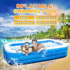 Aufblasbarer Schwimmbecken Kinder Schwimmbad Planschbecken Pool groß Outdoor