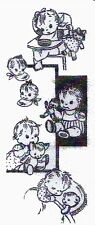Hand Embroidery Transfer 576 Tiny Tots Toddlers for Childrens Clothes & Nursery