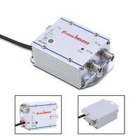 2 Way 20DB 45-860MHz AMP CATV VCR TV Antenna Signal Amplifier Booster Splitter