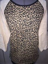 Ladies ZENERGY by CHICO'S Metallic Animal Print Knit Top Size 1 MSRP $79 NICE!