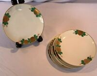 "Fitz And Floyd Chrysanthemum Salad/side Plates 7 3/4"" Vintage EUC Set Of 6"
