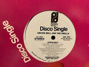 """Archie Bell And The Drells Strategy 12"""" 1979 PHILA INTERNATIONAL 4Z8-3701 PROMO"""