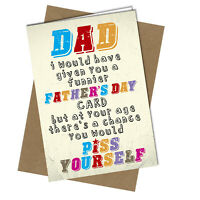 #1013 Funny Rude FATHERS DAY CARD Dad Stepdad Stepfather Cheeky Greeting Gift