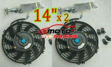"2 × 14"" 14 inch Universal Electric Radiator Push/Pull Cooling Fan + mounting kit"