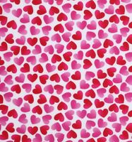 REMNANT: SIMPLE HEARTS ON WHITE Cotton Fabric by Fabric Traditions  BTY