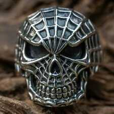 Spider Man Skull Ring .925 silver Spidey Marvel Superhero Biker Men's Women's