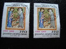 VATICAN - timbre yvert et tellier n° 850 x2 obl (A28) stamp