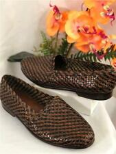 COLE HAAN RESORT Men's Brown/Black Woven Leather Slip In Loafers Sz 9M #8702