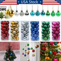 New Year Christmas Baubles Ornament Ball Party Christmas Tree Decor Balls 30mm
