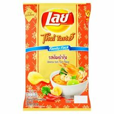 LAYS SHRIMP TOM YUM KUNG POTATO CHIPS SNACK CRISPY SNACKS THAI SPICY 156 G.