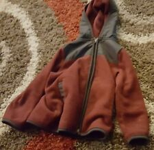 OLD NAVY Boys Boy's Kids RED AND BLACK/GRAY ZIPPER HOODIE JACKET - Size 2T / 2A