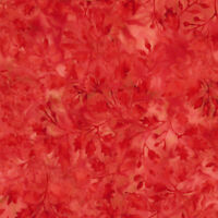 Timeless Treasures Batik Fabric, TONGA-B5975 RHUBARB, Half Yard Fabric, Quilting