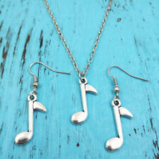Silver music Necklace earring pendants,women jewelry,birthday Gifts