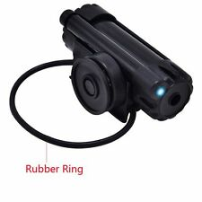 Electronic LED Fish Bite Sound Alarm Alert Bell Clip On Fishing Rod Black