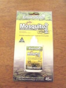 Envirosafe STOP MOSQUITO Drops Silicone Liquid Mozzie Control in water NonToxic