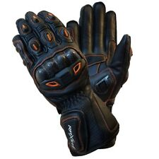 Motorbike Motorcycle Gloves Biker Racing Wear Goat Leather Knuckles Size S,M,L,X