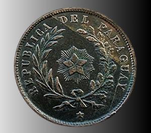 PARAGUAY 1870 1 CENTESIMO  COPPER  # 00092
