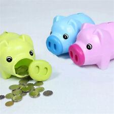Cute Cartoon Pig Plastic Piggy Bank Money Saving Box Coin Storage Case Kids Gift