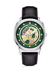 Bulova Accutron II Men's 96A155 Alpha Green Skeleton Dial Leather Strap Watch