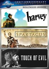 New Hollywood Legends Dvd 1950 Movies 3 Disc Set Harvey +Spartacus+Touch Of Evil
