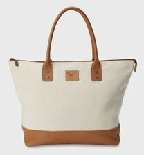 Will Leather Goods Getaway Canvas Tote / Natural / Canvas And Leather