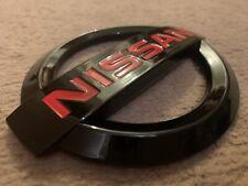 NEW JDM NISSAN 370Z GLOSS BLACK + RED BADGE EMBLEM NISMO FAST FREE POST!