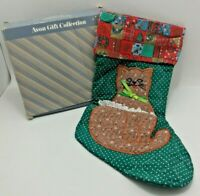 Vintage Calico Cat Christmas Stocking from the Avon Gift Collection - Open Box