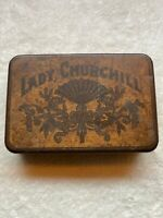 Vintage LADY CHURCHILL Tobacco Tin, Cigar Pocket Humidor Rare