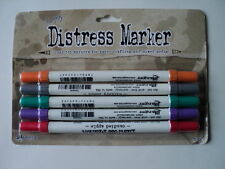 TIM HOLTZ DISTRESS MARKERS 2015 COLOURS #2 PACK OF 5 BNIP  *LOOK*