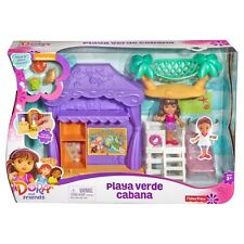 Fisher-Price Dora The Explorer and Friends Playa Verde Beach Cabana Playset NEW!