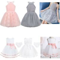Toddler Baby Flower Girl Dress Princess Floral Lace Wedding Party Birthday Dress