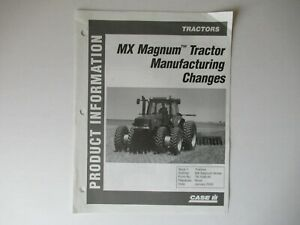Case CASEIH Magnum MX tractor manufacturing changes product info brochure