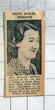 1939 South Shields Romance For Miss Nancy Buffam And Richard Watson Of Worcester