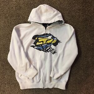 Fox Racing White Youth Hoodie Sz XL - Some Staining