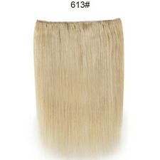 140g 16-30inch Thick One Piece Clip Real Remy Human Hair Extensions Full Head