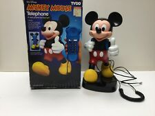 Vintage Tyco Mickey Mouse Telephone In Box. Telephone Handset Is His Backpack
